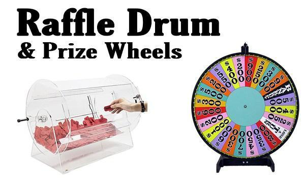 Raffle Drum &  Prize Wheels