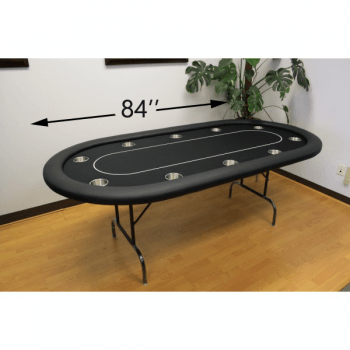 10 Player 84 Poker Tables Size 84 Black