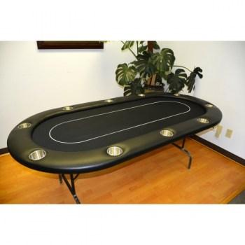 10 Player 96 Poker Tables Black
