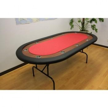 10 Player Folding Legs Poker Table__red