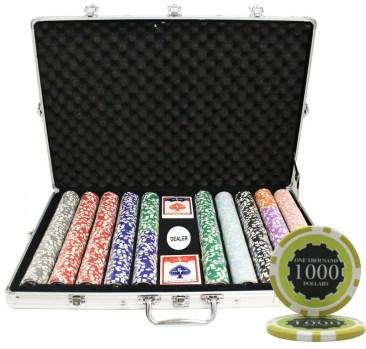 1000PCS 14G ECLIPSE POKER CHIPS SET WITH ALUM CASE