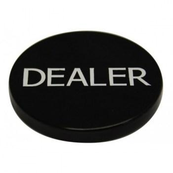 2 Inch Dealer Puck Engraved Casino Quality--black