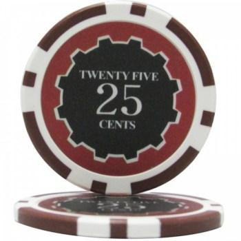 25 Eclipse $0.25 POKER CHIPS