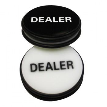 3 Inch Dealer Puck Engraved Casino Quality