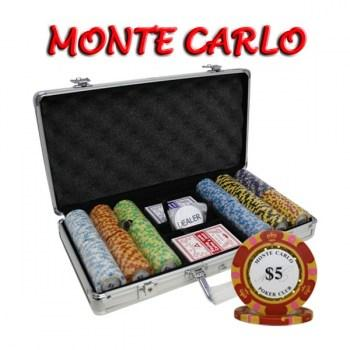 300PCS 14G MONTE CARLO POKER CLUB POKER CHIPS SET With ALUM CASE