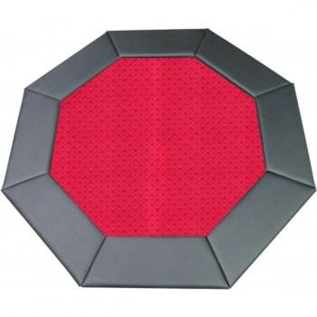 48 Octagon Poker Table Top Red-1