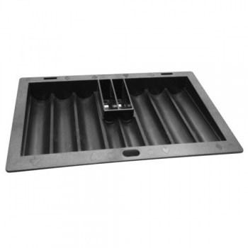 ABS Black Poker Chip Tray with Cardholder (8 Row  350 Chip)