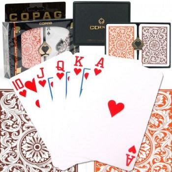 Copag 1546 Poker Size OrangeBrown Regular Index_1