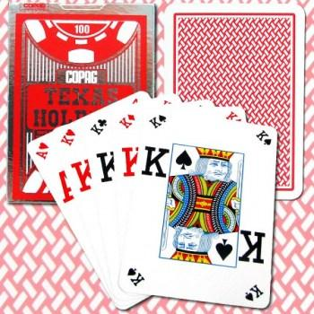 Copag Texas Hold'em Poker Size Red Peek Index_1