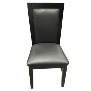 Solid Wood Poker Chairs Black Color_15