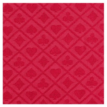 Suited Speed Poker Table Cloth Waterproof (Red)1