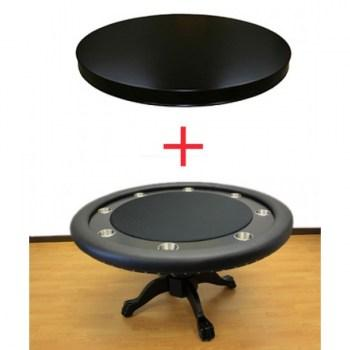 THE MYSTIC POKER TABLE BLACK WITH DINING TOP_2